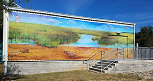 """Making Connections"" mural greets Estuarium visitors"