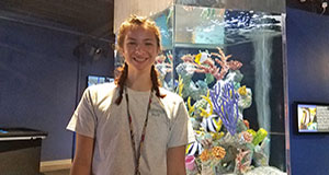 ExxonMobil supports summer aquarist intern at Estuarium